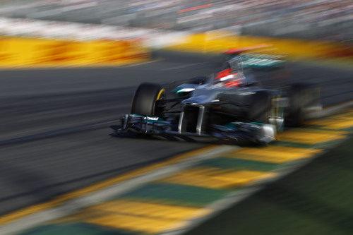 Michael Schumacher fue cuarto en la clasificación de Australia 2012