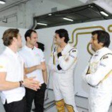 Clos, Liuzzi, De la Rosa y Karthikeyan en el estreno del F112