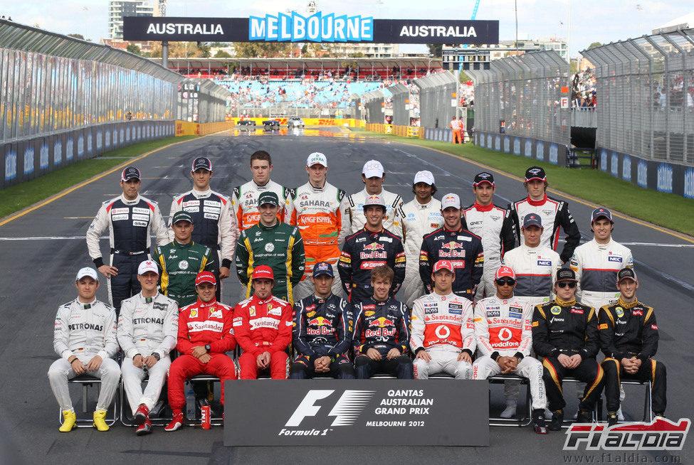 Parrilla 2012 de la Fórmula 1