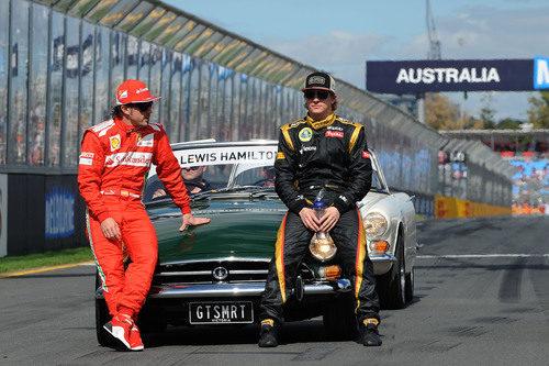 Fernando Alonso y Kimi Räikkönen en Australia 2012