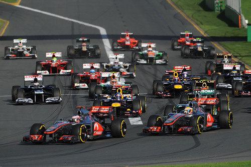 Salida del GP de Australia 2012