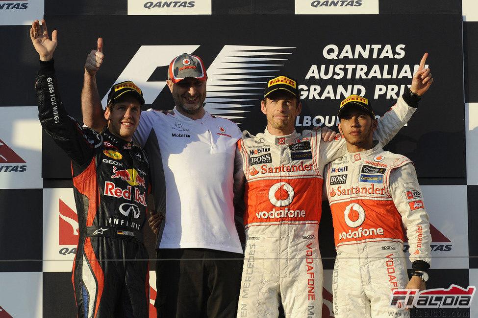Podio del GP de Australia 2012