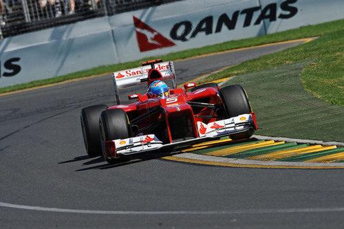 Fernando Alonso en la carrera de Melbourne 2012
