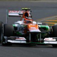 Nico Hülkenberg rueda en Melbourne con el VJM05