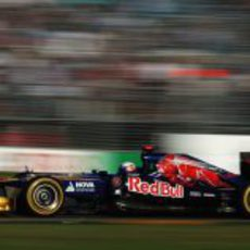 Daniel Ricciardo durante la carrera de Melbourne