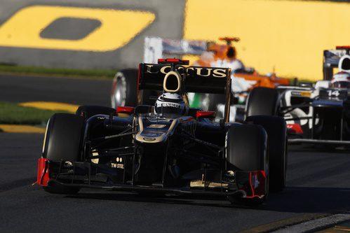 Kimi Räikkönen durante la primera carrera de la temporada