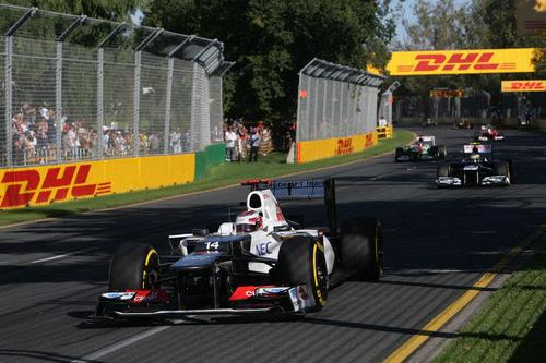 Kobayashi trata de coger velocidad en Melbourne