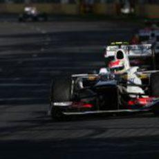 Sergio Pérez rueda en Albert Park con el C31