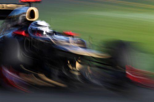 Kimi Räikkönen a toda velocidad