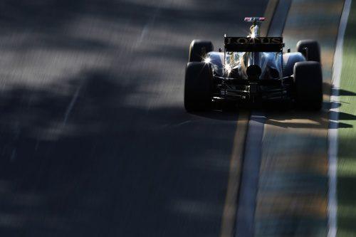 Vista trasera del Lotus E20 de Kimi Räikkönen