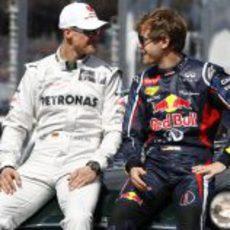 Los dos campeones alemanes, juntos en Albert Park