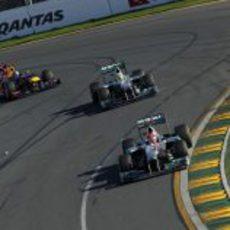 Los Mercedes realizaron una gran salida en Albert Park