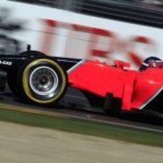 Charles Pic disputa su primera clasificación en la Fórmula 1