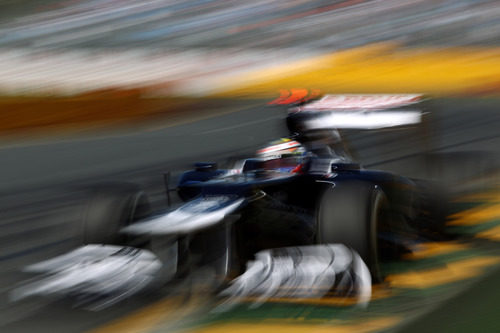 Pastor Maldonado a toda velocidad en Albert Park