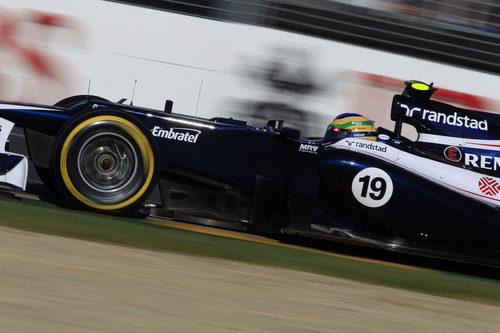 Vista lateral del Williams de Bruno Senna en Melbourne