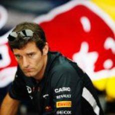 Mark Webber llega al circuito de Sepang
