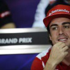 Fernando Alonso en la rueda de prensa de la FIA en Malasia