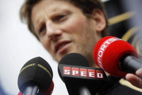 Romain Grosjean habla para BBC, Speed y Sky Sports en Malasia