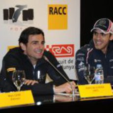 Pastor Maldonado y Pedro de la Rosa en el Fota fans forum