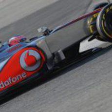 Jenson Button rueda en Barcelona