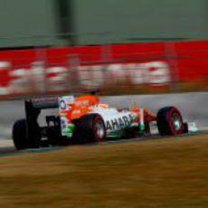 Vista lateral de un Force India