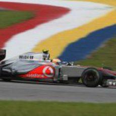Lewis Hamilton en los libres del GP de Malasia 2012