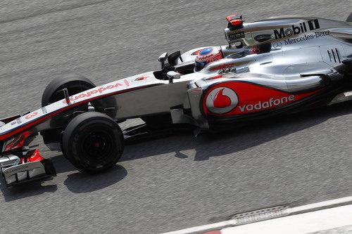 Jenson Button en los libres del GP de Malasia 2012