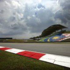 Bandera de Malasia en Sepang