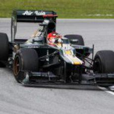 El 'Angry Bird' Kovalainen en el GP de Malasia 2012