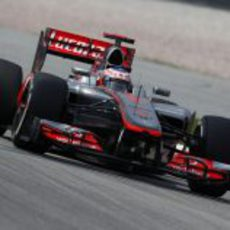 Jenson Button rueda en Sepang