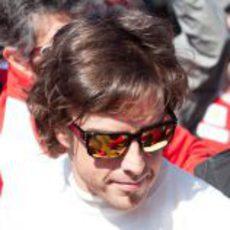 Fernando Alonso llega a Montmeló