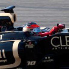 Vista lateral de Romain Grosjean