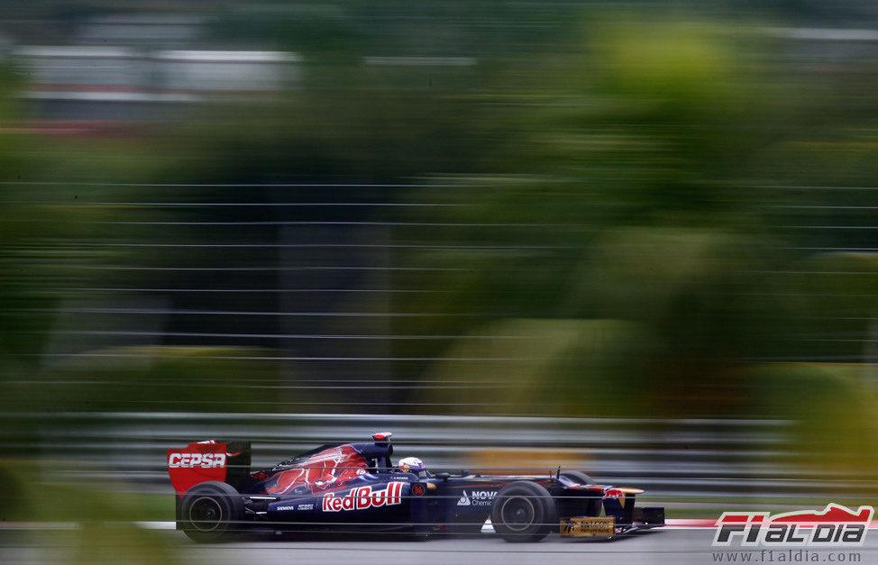 Daniel Ricciardo en la clasificación de Sepang