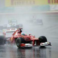 Fernando Alonso en la carrera del GP de Malasia 2012