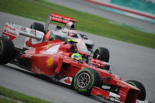 Felipe Massa en la carrera del GP de Malasia 2012