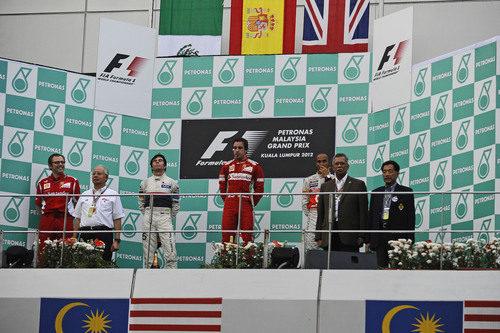 Podio del GP de Malasia 2012