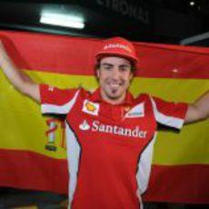 Fernando Alonso muy contento con su victoria en Malasia 2012