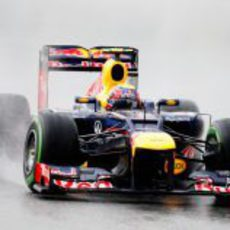 Mark Webber vuela sobre el trazado de Sepang