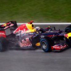 Sebastian Vettel rueda a los mandos del RB8