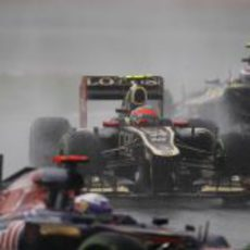 Romain Grosjean encuentra tráfico en Sepang