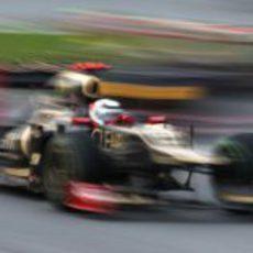 Kimi Räikkönen vuela en el Gran Premio de Malasia 2012