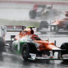 Nico Hülkenberg en las primeras curvas del GP de Malasia 2012