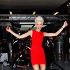 Kate Peck en el GP de Australia 2012