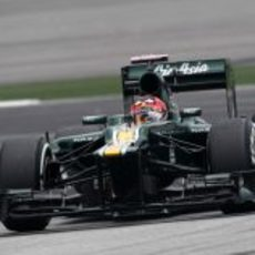 Heikki Kovalainen en la clasificación del GP de Malasia 2012