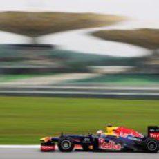 Sebastian Vettel en la clasificación del GP de Malasia 2012