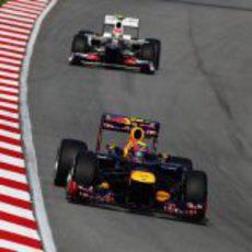 Webber es perseguido por Pérez en la clasificación de Malasia