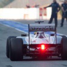Parte trasera del Williams en Montmeló