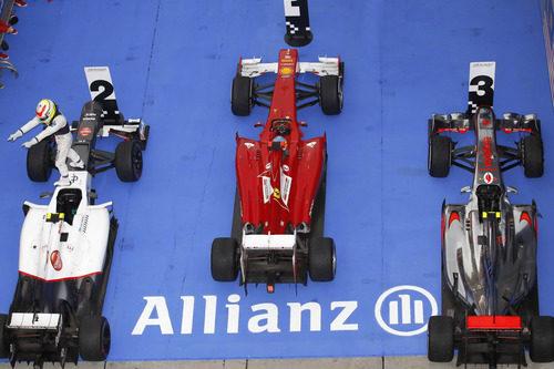 Ferrari, Sauber y McLaren en el podio del GP de Malasia 2012