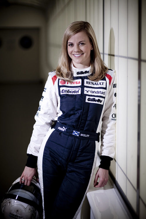 Susie Wolff, piloto de desarrollo de Williams para 2012