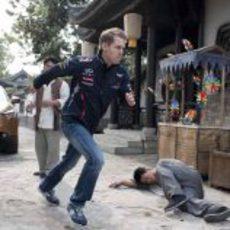 Sebastian Vettel escapa de los malvados en China